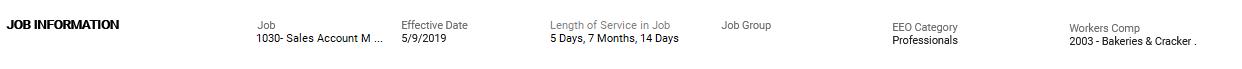 Job Information screenshot